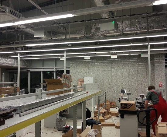 Prace montażowe - instalacja klimatyzacji