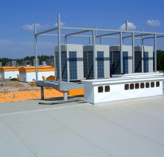 Klimatyzatory - jednostki zewnętrzne na dachu