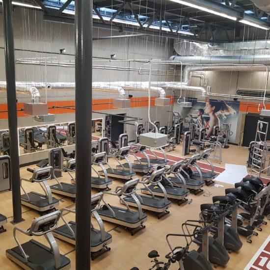 Klimatyzowana hala studio fitness