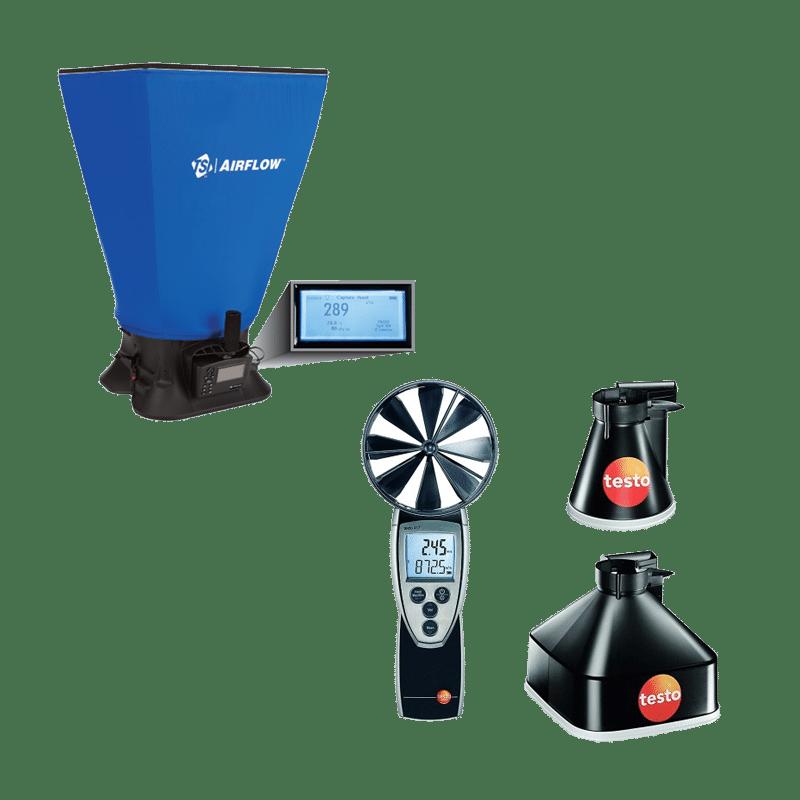 Miernik pomiaru szczelności instalacji wentylacyjnej