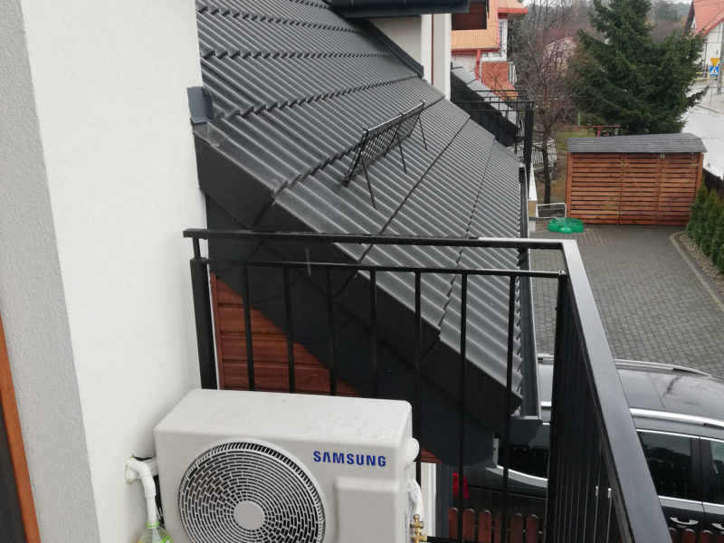 Klimatyzator Samsung Eco na balkonie